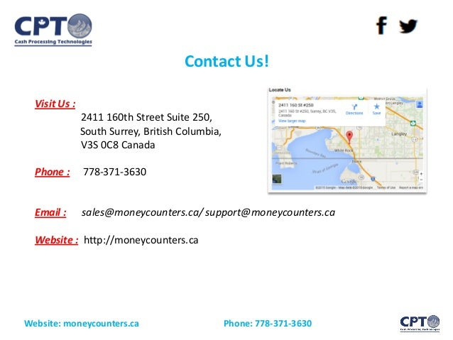 Contact Us! Website: moneycounters.ca Phone: 778-371-3630 Visit Us : 2411 160th Street Suite 250, South Surrey, British Co...