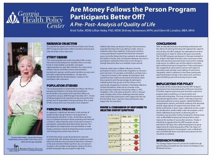 Are Money Follows the Person Program                                                                                Partic...