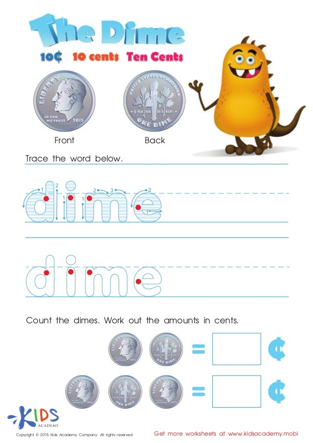 Worksheets Money Games For Preschool free money games for kids at preschool and kindergarten 1 2 3 trace the word below