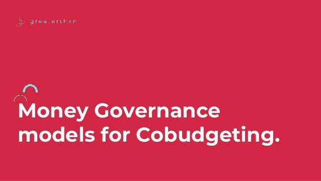 Money Governance models for Cobudgeting.