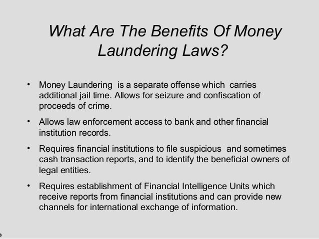 the benefits of having cash money Without paper money, the criminal class would have to use banks, greatly increasing their chance of detection, or use a vastly more troublesome means of exchange.
