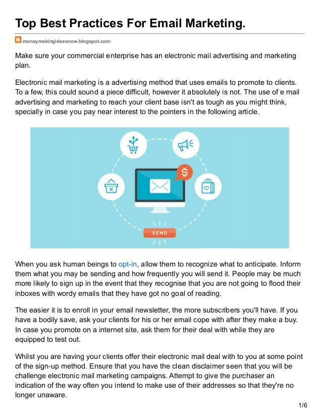 Top Best Practices For Email Marketing
