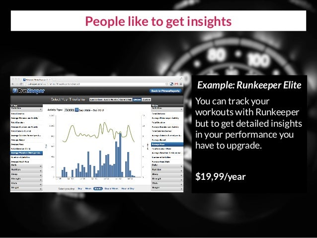 People like to get insights Example: Runkeeper Elite You can track your workouts with Runkeeper but to get detailed insigh...