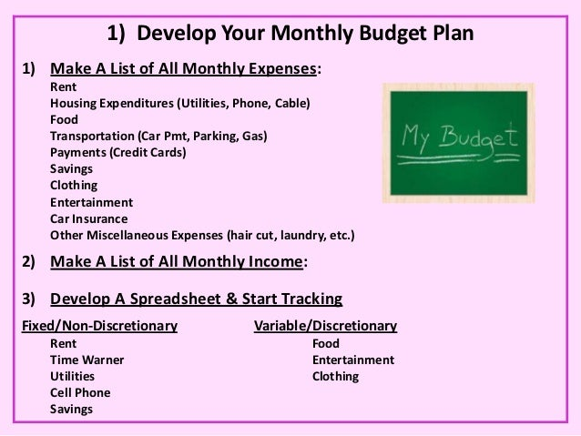 monthly college budget