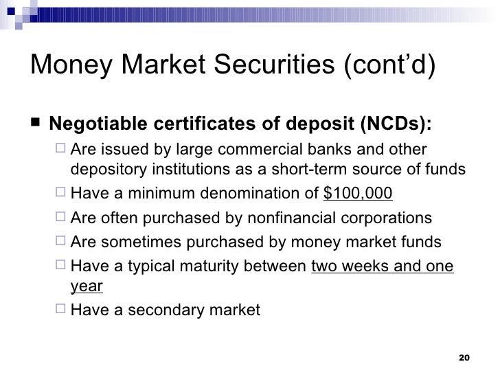 Money Markets Ch 9 Uts