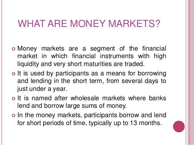 Money markets in south africa Slide 2