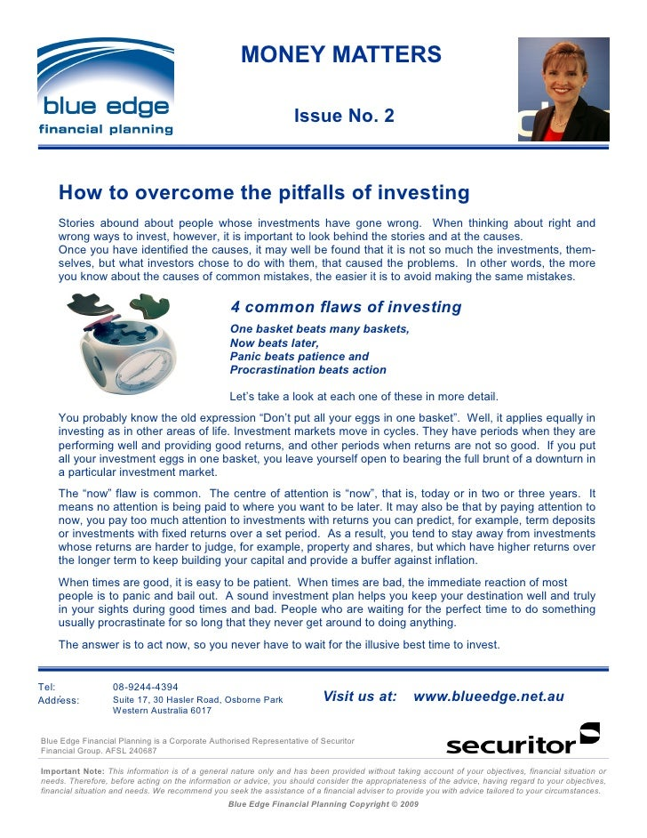 MONEY MATTERS                                                                     Issue No. 2        How to overcome the p...