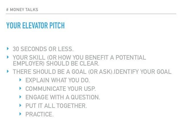 money talks elevator