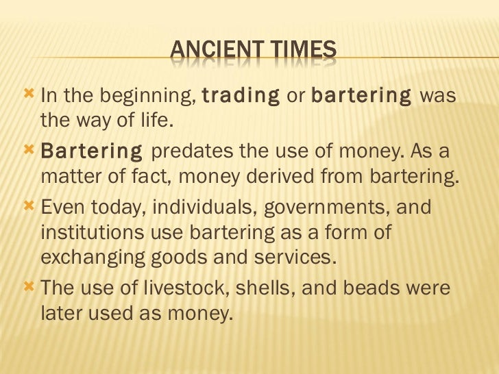An Introduction to the History of Money