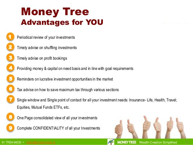 181891 77604 94035 • sales@money-tree.in MONEYTREE Wealth Creation Simplified • Periodical review of your investments • Ti...