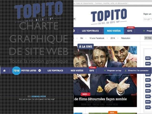 CHARTE GRAPHIQUE DE SITE WEB Toute la notion graphique