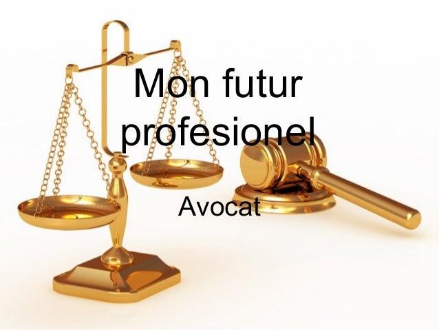 Mon futur profesionel Avocat