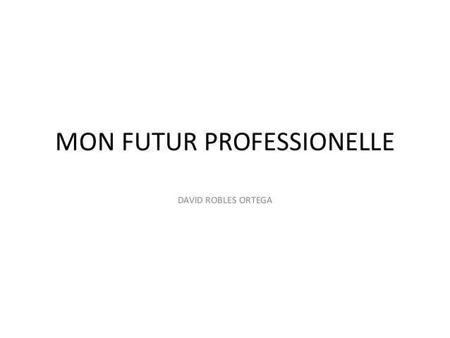 MON FUTUR PROFESSIONELLE DAVID ROBLES ORTEGA