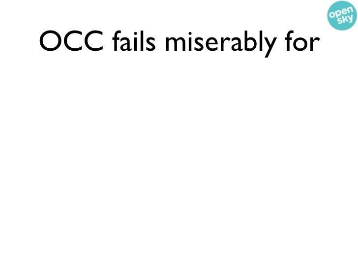 OCC fails miserably for• eBay