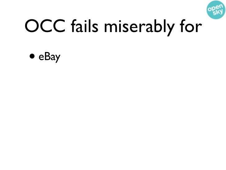 OCC fails miserably for• eBay• Gilt