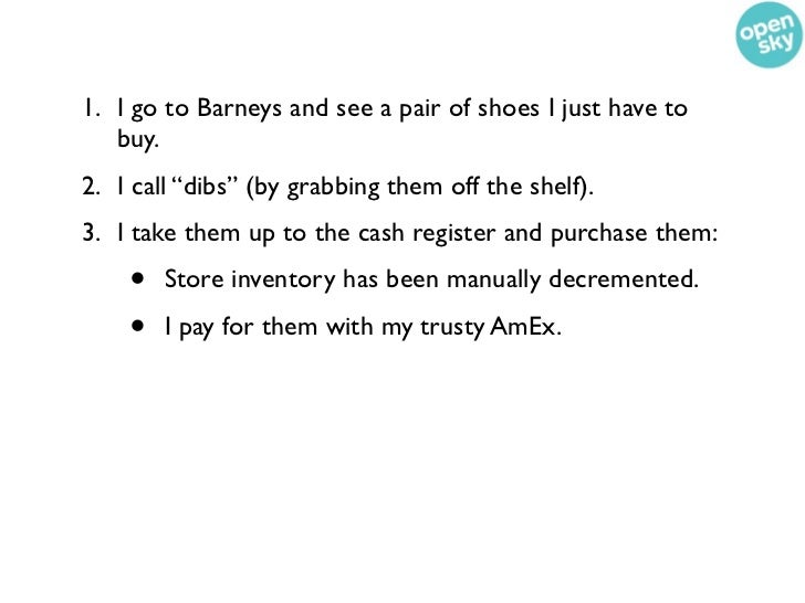 """1. I go to Barneys and see a pair of shoes I just have to   buy.2. I call """"dibs"""" (by grabbing them off the shelf).3. I tak..."""