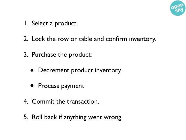 Data we store in SQL• Order• Order/Shipment• Order/Transaction• Inventory