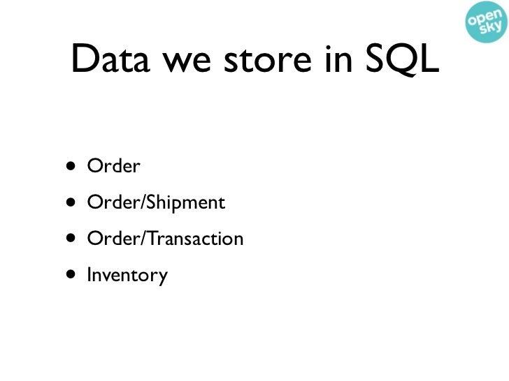 We have themost boring SQL  schema ever