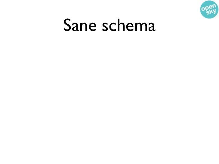 Sane schema