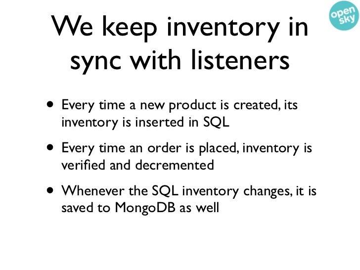 Making MongoDBand RDBMS relations      play nice