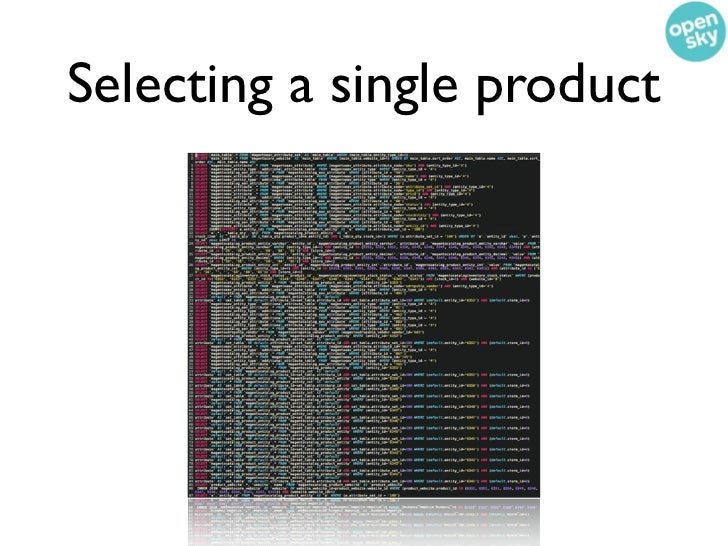 Selecting a single product