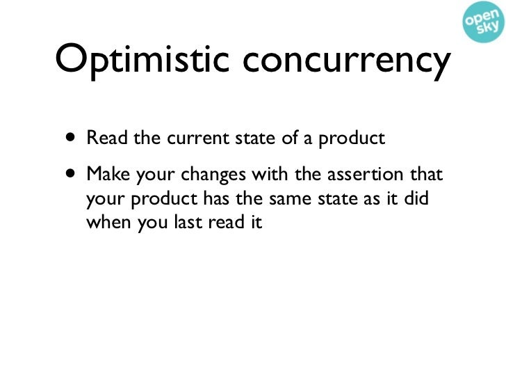 Optimistic concurrency    in MongoDB