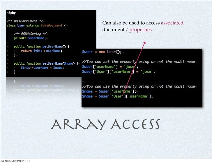 Can also be used to access associated                               documents' properties                          Array A...