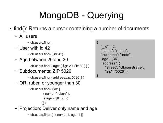 Mongodb search subdocuments
