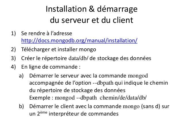 Introduction mongodb for Sur la table et 85 manual