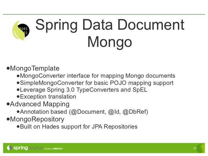 using Spring and MongoDB on Cloud Foundry