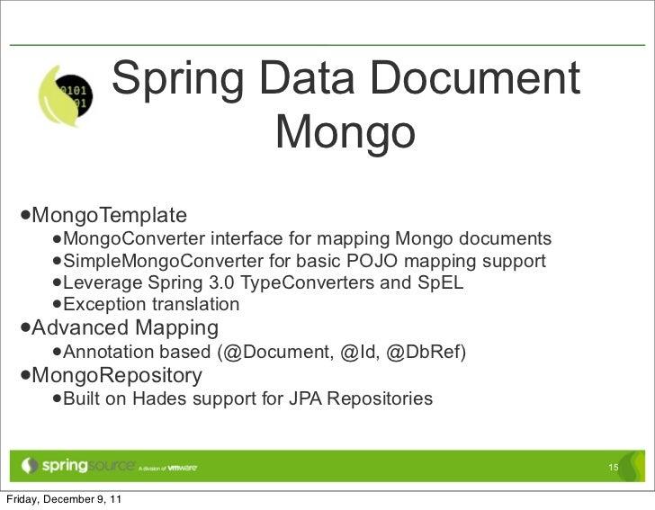 Dbref Spring Data Mongodb 2 1 6 release Api