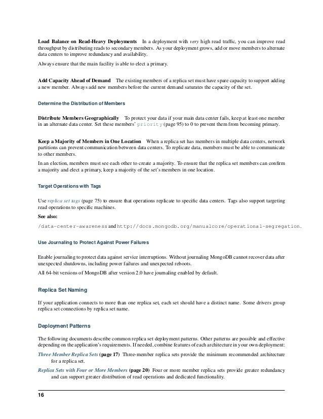 Mongo db replication guide