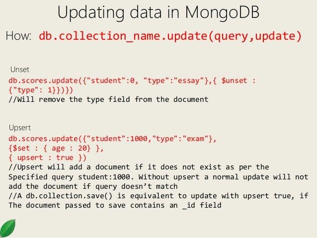 Mongo DB 102