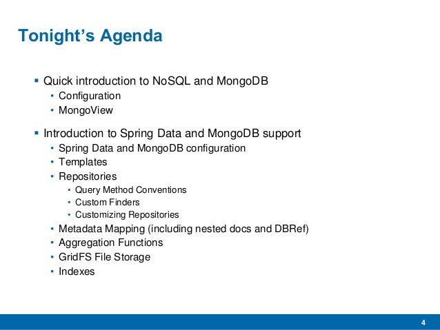 MongoDB 2 4 and spring data
