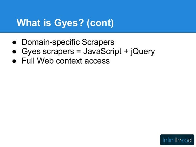 MongoDB and Web Scrapping with the Gyes Platform