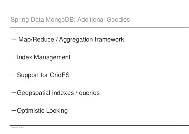 Spring Data MongoDB: Additional Goodies