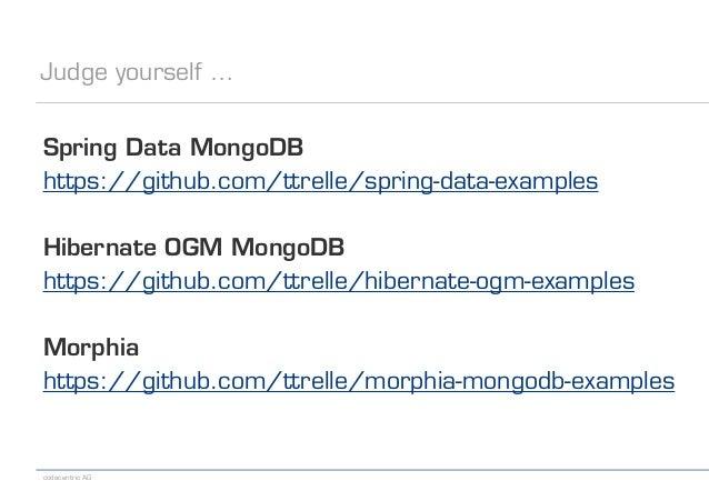 Java Persistence Frameworks for MongoDB