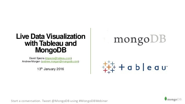 Webinar: Live Data Visualisation with Tableau and MongoDB