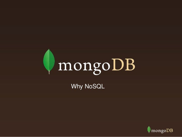 Why NoSQL