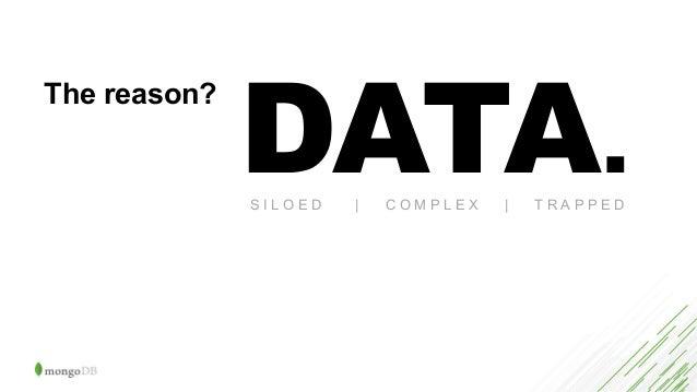 The reason? DATA.S I L O E D   C O M P L E X   T R A P P E D