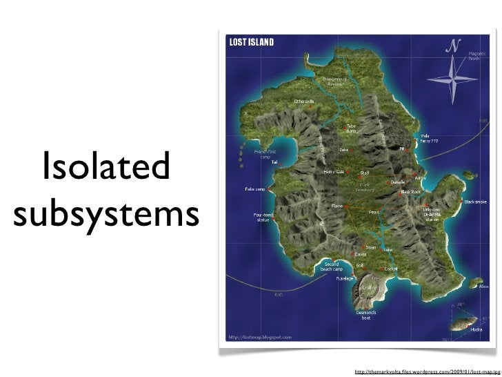 Isolated subsystems                http://themarkvolta.files.wordpress.com/2009/01/lost-map.jpg