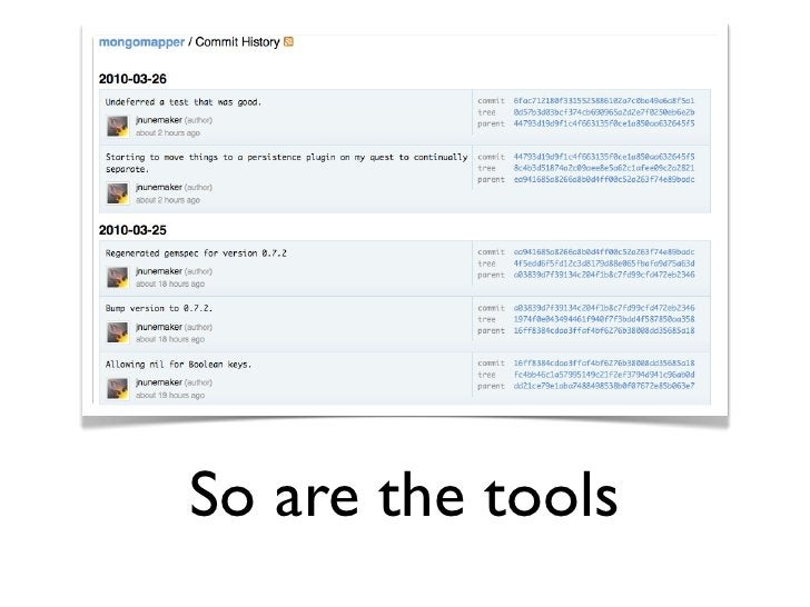So are the tools