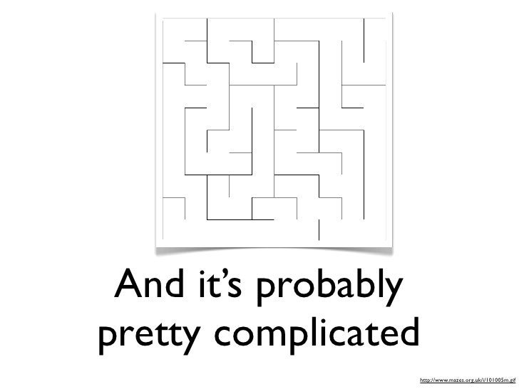 And it's probably pretty complicated                  http://www.mazes.org.uk/i/101005m.gif