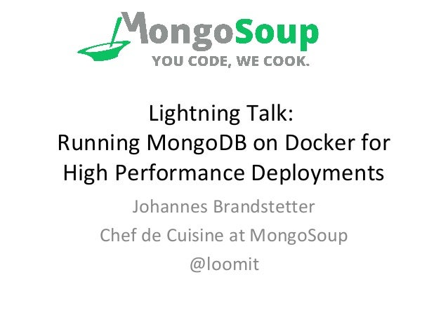 how to start mongodb on docker