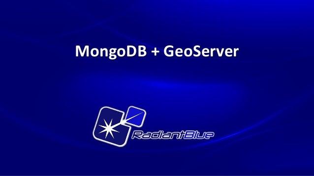 MongoDB + GeoServer