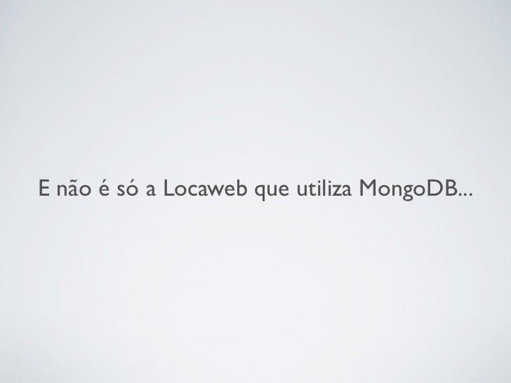 MongoDB em producao