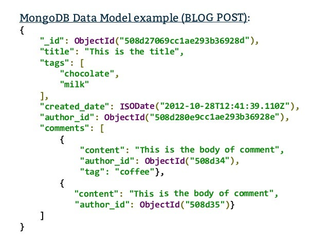 Mongodb How To Model And Extract Your Data