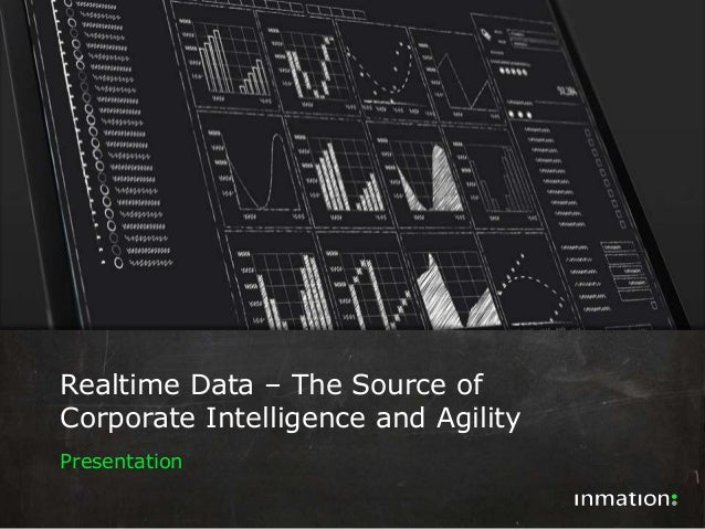 IoT City Tour  Realtime Data – The Source of  Corporate Intelligence and Agility  Presentation