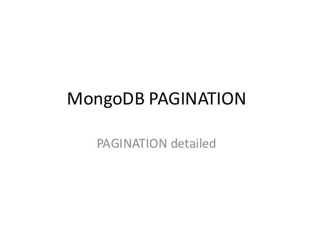 MongoDB PAGINATIONPAGINATION detailed