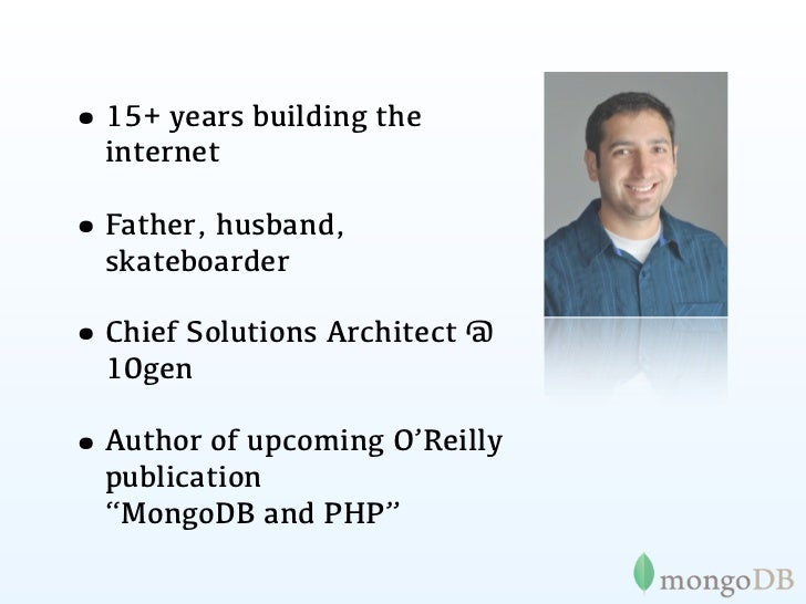 MongoDB, PHP and the cloud - php cloud summit 2011 Slide 3